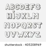 vector alphabet. hand drawn... | Shutterstock .eps vector #405208969