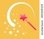 magic wand stars flat icon... | Shutterstock .eps vector #405209155