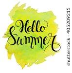 hello summer lettering on... | Shutterstock .eps vector #405209215