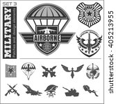 air force military emblem set... | Shutterstock .eps vector #405213955
