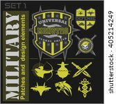 set of military patches logos ... | Shutterstock .eps vector #405214249
