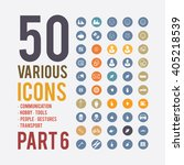 large set of simple icons on... | Shutterstock .eps vector #405218539