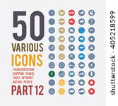 large set of simple icons on... | Shutterstock .eps vector #405218599
