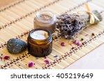 natural cosmetic  spa  creams ... | Shutterstock . vector #405219649