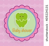 baby shower invitation template ... | Shutterstock .eps vector #405224131