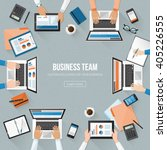 business team working in the... | Shutterstock .eps vector #405226555