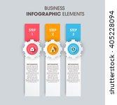business infographics vector... | Shutterstock .eps vector #405228094