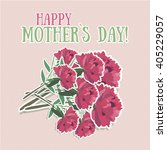 flower. mothers day background... | Shutterstock .eps vector #405229057