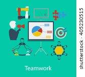 business teamwork flat design...
