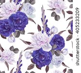 floral seamless pattern with... | Shutterstock . vector #405233209