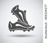 soccer pair of boots  icon on... | Shutterstock .eps vector #405234277