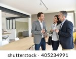 mature couple with real estate... | Shutterstock . vector #405234991