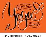 yoga summer camp logotype | Shutterstock .eps vector #405238114