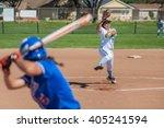 Close Up Of Softball Pitcher...