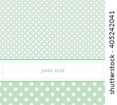 Sweet Mint Green Vector Card O...
