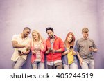 multicultural group of friends... | Shutterstock . vector #405244519