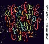 vector alphabet on a dark... | Shutterstock .eps vector #405250621