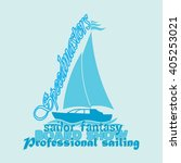 t shirt drawing  nautical ... | Shutterstock .eps vector #405253021