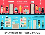 shopping center and boutique... | Shutterstock .eps vector #405259729