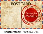 coachella stamp on a vintage ... | Shutterstock . vector #405261241
