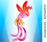 stylized phoenix background | Shutterstock .eps vector #405264937