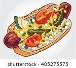 hand drawn vector illustration... | Shutterstock .eps vector #405275575