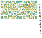 back to school doodle set.... | Shutterstock .eps vector #405277615