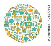 back to school doodle set.... | Shutterstock .eps vector #405277915