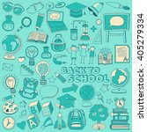 back to school doodle set.... | Shutterstock .eps vector #405279334