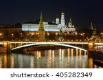 beautiful view of moscow... | Shutterstock . vector #405282349