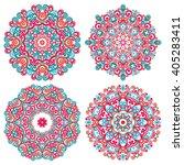 colorful mandalas in oriental... | Shutterstock .eps vector #405283411