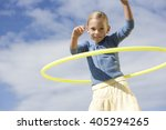 a young girl with a hoop | Shutterstock . vector #405294265