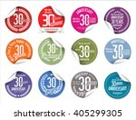 anniversary modern tag and... | Shutterstock .eps vector #405299305