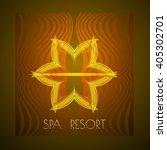 spa themed vector illustration  ... | Shutterstock .eps vector #405302701