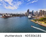 aerial view from sydney harbour ... | Shutterstock . vector #405306181