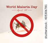 world malaria day with no... | Shutterstock . vector #405306781