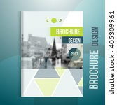 vector brochure cover template...   Shutterstock .eps vector #405309961