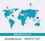world map infographic template. ... | Shutterstock .eps vector #405317137
