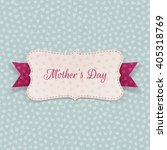 mothers day paper banner with... | Shutterstock .eps vector #405318769