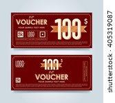 gift voucher template with a...   Shutterstock .eps vector #405319087