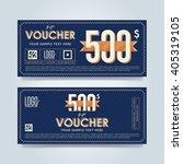 gift voucher template with a... | Shutterstock .eps vector #405319105