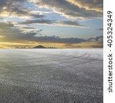 sunset asphalt asphalt tire... | Shutterstock . vector #405324349