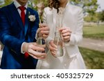 couple on their wedding day... | Shutterstock . vector #405325729