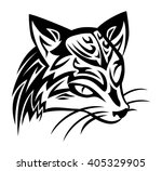 illustration of a civet cat... | Shutterstock .eps vector #405329905