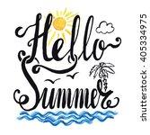 summer calligraphic design... | Shutterstock .eps vector #405334975