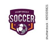 soccer logos  american logo... | Shutterstock .eps vector #405335821