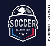 soccer logos  american logo... | Shutterstock .eps vector #405335851