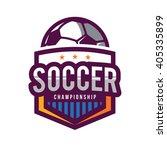 soccer logos  american logo... | Shutterstock .eps vector #405335899
