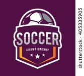 soccer logos  american logo... | Shutterstock .eps vector #405335905