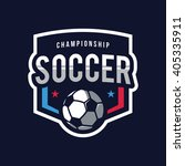 soccer logos  american logo...   Shutterstock .eps vector #405335911